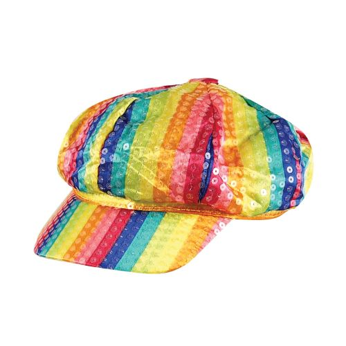 Rainbow Sequin Cap Gay Pride Fancy Dress